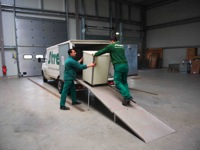 Loading of a truck for archive transport - Streff Luxembourg
